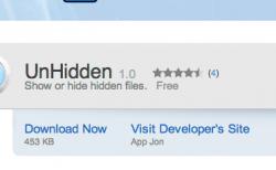 不可視ファイルの表示・非表示をワンタッチで切り替えられるMacのフリーソフト「UnHidden」