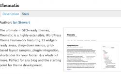 ブログテーマをWordPressフレームワーク「Thematic」に変更しました
